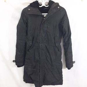 TNA Aritzia coat size extra small black vegan